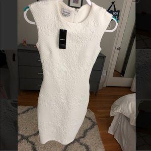 BEBE Tiffany Cap Jacquard Dress
